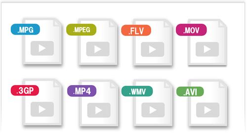 様々な動画フォーマットに対応