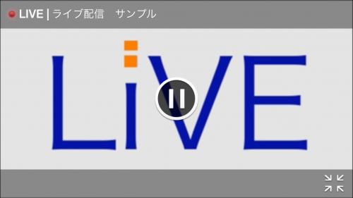 LIVE配信 プレイヤー画面